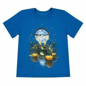 Koszulka Słowiańska dziecięca - Rusałka (Niebieska)